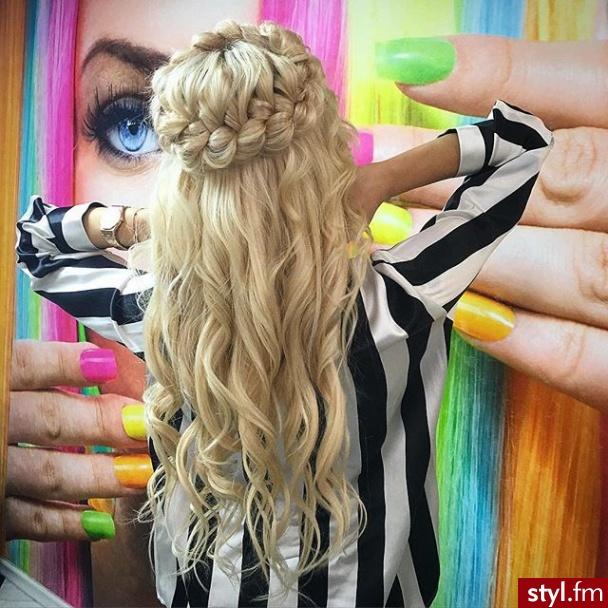 Blond Warkocze Kręcone Na co dzień Długie Fryzury