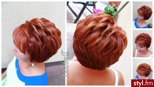 Fryzury Rude Włosy Fryzury Krótkie Wieczorowe Proste