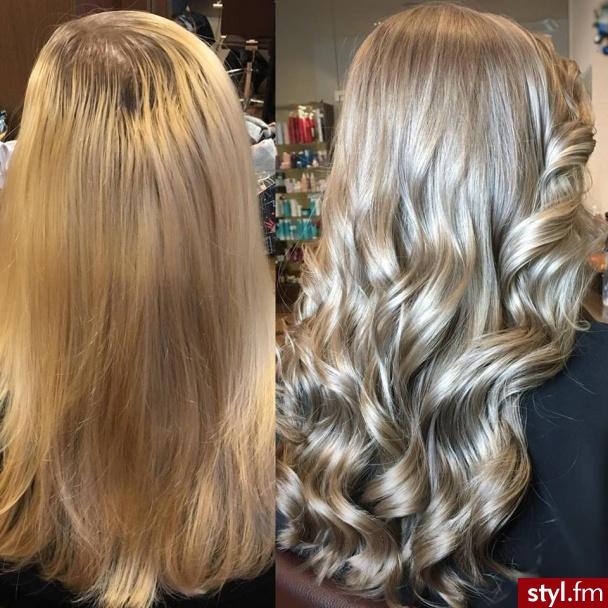 Salon for hair Olaplex fryzjer Warszawa - Blond Rozpuszczone Kręcone Na co dzień Długie Fryzury