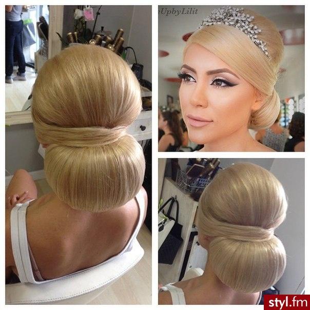 Blond Upięcie Proste Ślubne Długie Fryzury
